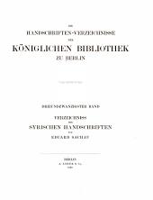 Die Handschriften-Verzeichnisse der königlichen Bibliothek zu Berlin: Band 23