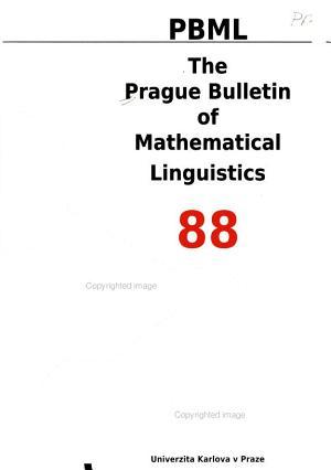 The Prague Bulletin of Mathematical Linguistics PDF