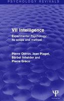 Experimental Psychology Its Scope and Method  Volume VII  Psychology Revivals  PDF