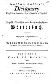 Dictionary English-German and German-English: Englisch-Deutsch, Volume 1