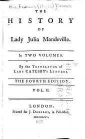 The History of Lady Julia Mandeville: Volume 2