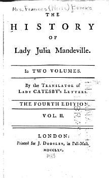 The History of Lady Julia Mandeville PDF