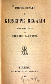 Poesie scelte di Giuseppe Regaldi con prefazione di Eugenie Camerini