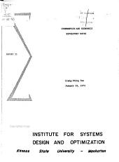 Report - Institute for Systems Design and Optimization