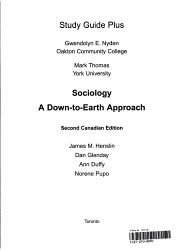 Sociology A Down To Earth Approach Second Canadian Edition Study Guide Plus Book PDF