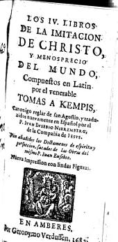 Contemtus mundi: o de la imitacion de Christo