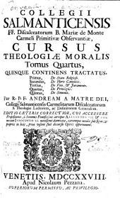 Cursus Theologiae Moralis: Quinque Continens Tractatus, Primus, De Statu Religioso. Secundus, De Horis Canonicis. Tertius, De Voto & Juramento. Quartus, De Privilegiis. Quintus, De Simonia, Volume 4