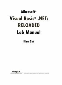Lab Manual for Microsoft Visual Basic net PDF