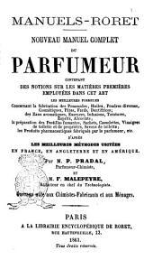 Nouveau manuel complet du parfumeur ... par P. Pradal et F. Malepeyre