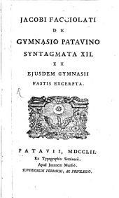 De Gymnasio Patavino Synlagimata XII.