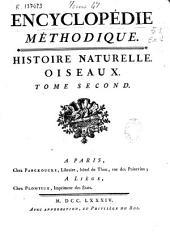 Encyclopédie methodique: histoire naturelle : oiseaux