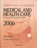Medical And Health Care Books And Serials in Print  2006 PDF