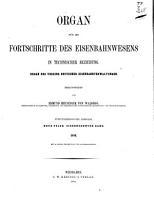 Organ f  r die Fortschritte des Eisenbahnwesens PDF