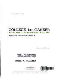 Ir Pkg  College to Career PDF