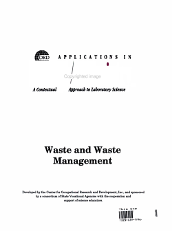 Waste and Waste Management PDF