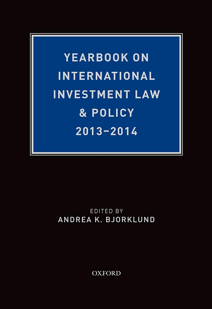 Yearbook on International Investment Law & Policy 2013-2014