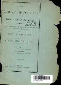 In The Court of Appeals of the State of New York