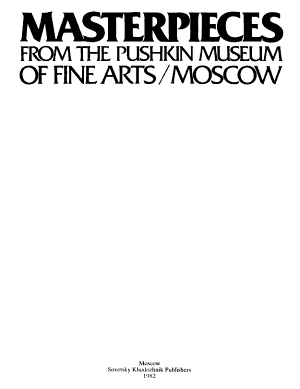Masterpieces from the Pushkin Museum of Fine Arts  Moscow PDF