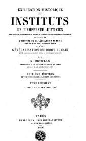 Livres I et II des Instituts