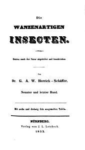 Die wanzenartigen Insecten: Band 9