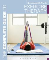 The Complete Guide to Exercise Therapy PDF