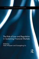The Role of Law and Regulation in Sustaining Financial Markets PDF