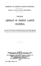 Abstract of Foreign Labour Statistics