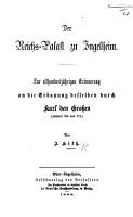 Der Reichs Palast zu Ingelheim  Zur elfhundertj  hrigen Erinnerung an die Erbanung desselben  etc PDF