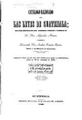 Catálogo razonado de las leyes de Guatemala