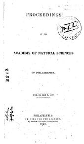 Proceedings of the Academy of Natural Sciences of Philadelphia: Volumes 3-4