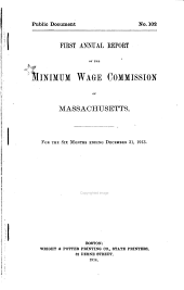 Annual Report of the Minimum Wage Commission of Massachusetts