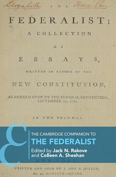 Download The Cambridge Companion to the Federalist Papers Book
