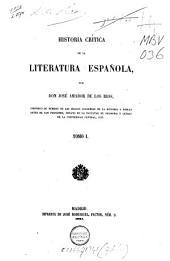 Historia crítica de la literatura española: Volume 1