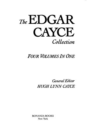 The Edgar Cayce Collection PDF