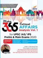 Disha 365 Current Affairs Analysis Vol  1 for UPSC IAS  IPS Prelim   Main Exams 2020 PDF