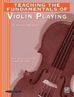Teaching the Fundamentals of Violin Playing PDF