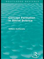 Concept Formation in Social Science  Routledge Revivals  PDF