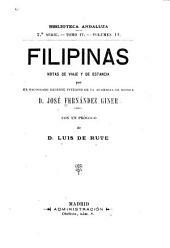 Filipinas: notas de viaje y de estancia