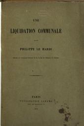 Une liquidation communale [Noyon] sous Philippe le Hardi
