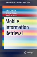 Mobile Information Retrieval PDF