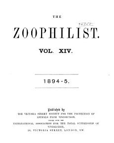 The Animal s Defender and Zoophilist PDF