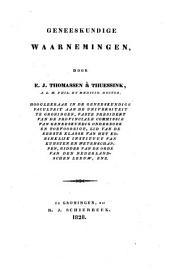 Geneeskundige waarnemingen door E. J. Thomassen à Thuessink