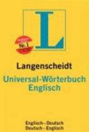 Langenscheidt Universal W  rterbuch Englisch PDF