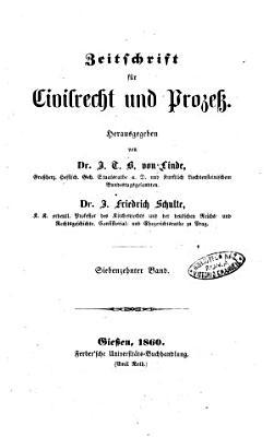 Zeitschrift fur Civilrecht und Prozess PDF