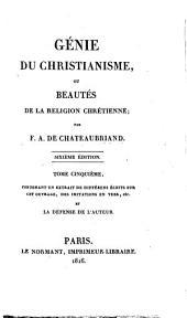 Génie du Christianisme: ou Beautés de la religion chrétienne, Volume5