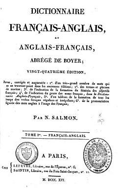 Dictionnaire fran  ais anglais et anglais fran  ais  abr  g   PDF