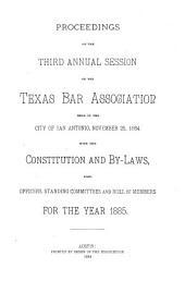 Proceedings of the ... Annual Session of the Texas Bar Association ..