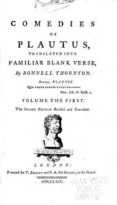 Comedies of Plautus: Amphitruo, Amphitryon. Miles Gloriosus. Captivi