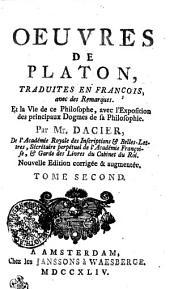 Oeuvres de Platon: Tome second, Volume2
