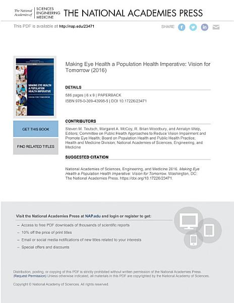 Download Making Eye Health a Population Health Imperative Book